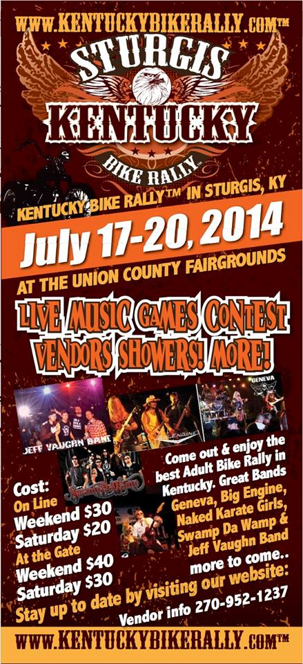 KENTUCKY BIKE RALLY 2014STURGIS KY UNION COUNTY KY